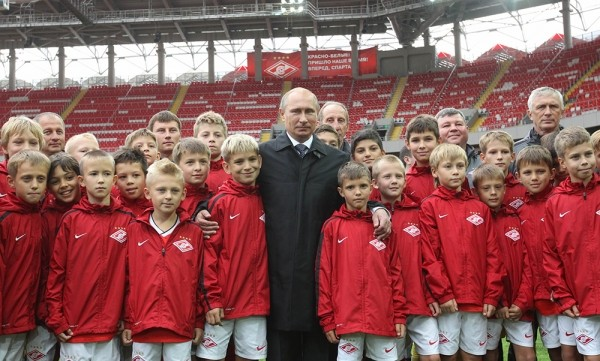 Владимир Путин посетил новый стадион футбольного клуба «Спартак»
