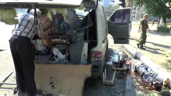 (21+) Военные преступления хунты в Луганске 13 августа