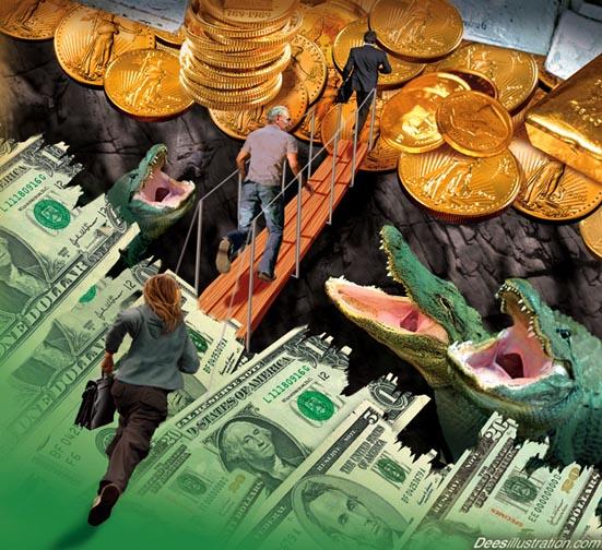 Россия вышла на шестое место в мире по объему золотых резервов