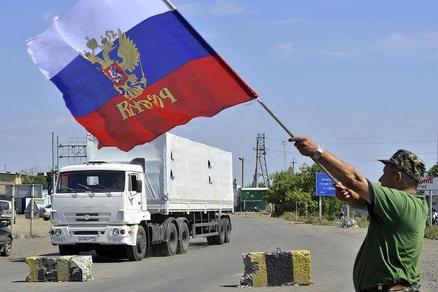 Российский гуманитарный конвой отправился на Украину