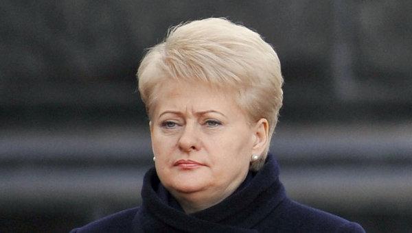 Даля Грибаускайте: Россия - террористическое государство
