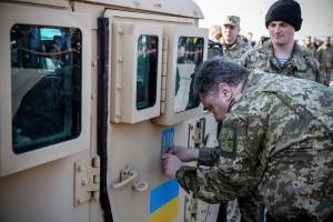 Бронеавтомобили HMMWV прибыли на Украину - фотоотчет
