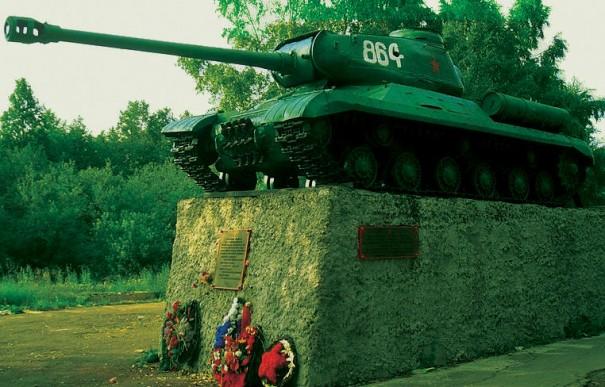 ИС-2, установленный на месте Войсковицкого боя