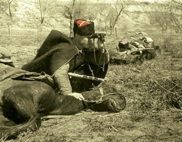 Немцы с криками «Kosaken!» бросились врассыпную.