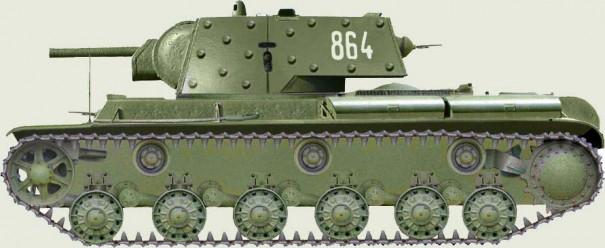 КВ-1 с дополнительным бронированием. Таким бронированием был снабжён и танк Зиновия Колобанова.
