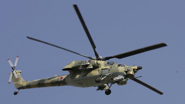 В районе Хомса разбился российский вертолет Ми-28H