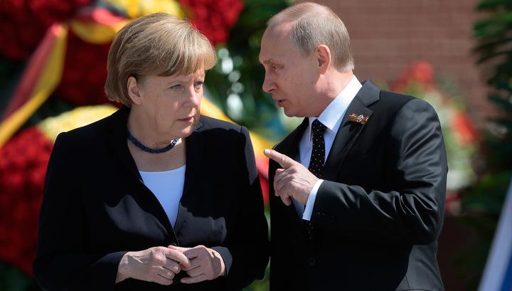 Меркель посоветуется с Путиным