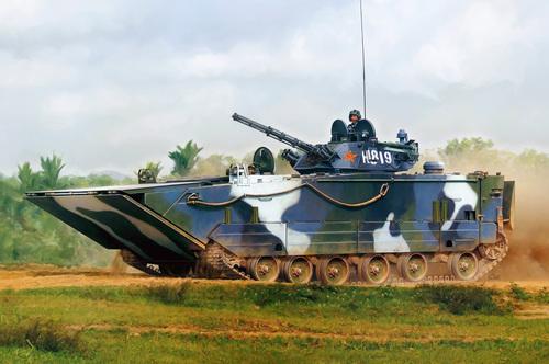"""Китайские военные представили """"самый быстрый"""" плавающий танк"""