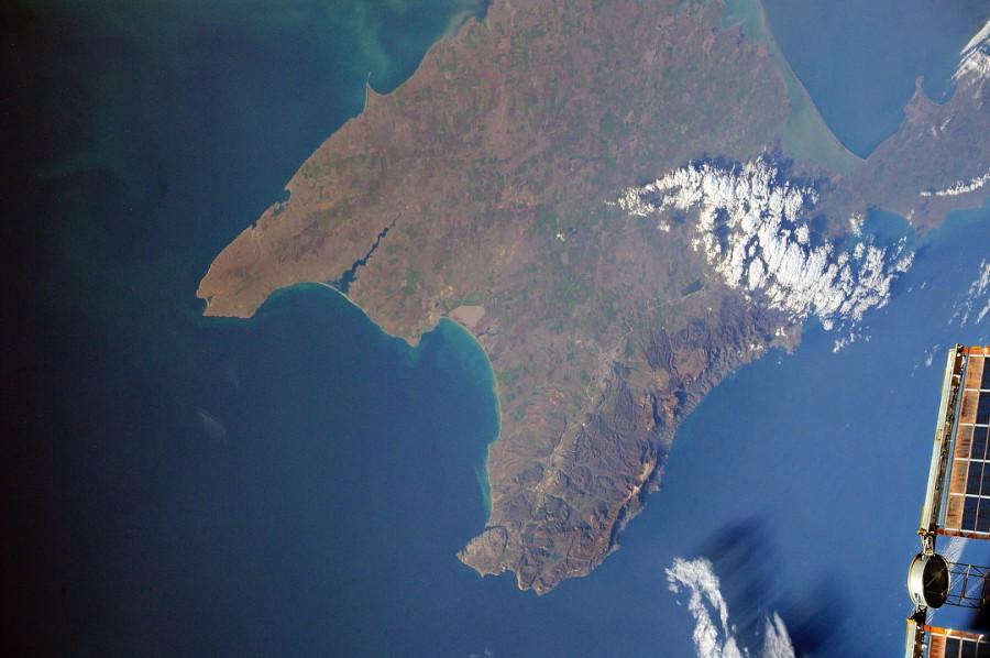 Крымский мост. Вид из космоса