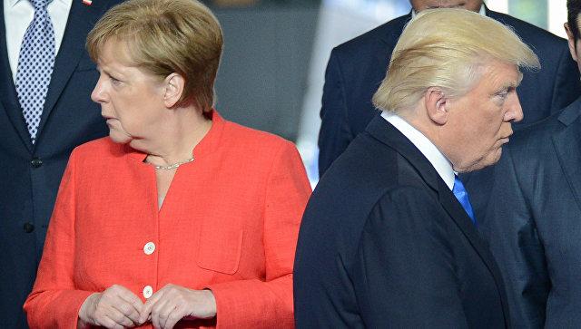 Дональд Трамп топит Ангелу Меркель в Средиземном море