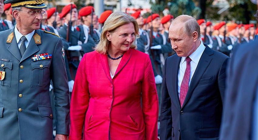 МИД Австрии: нам следует рассматривать Россию, как партнера