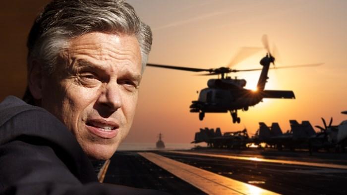 Джон Хантсман: Ну, хоть сделайте вид, что боитесь наших авианосцев!