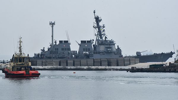 "Эсминец ВМС США ""Карни"""