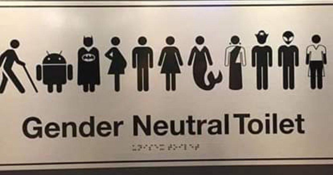 Туалет для всех. Даже роботам и русалкам вход свободный | Фото: Hornet.com