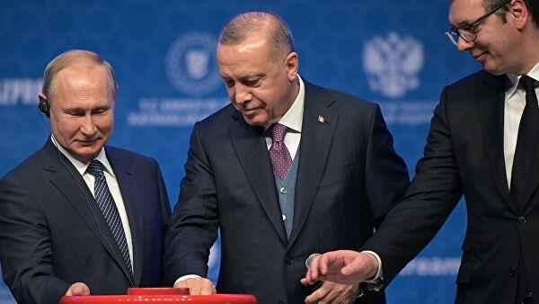 Владимир Путин и Реджеп Тайип Эрдоган запустили «Турецкий поток»