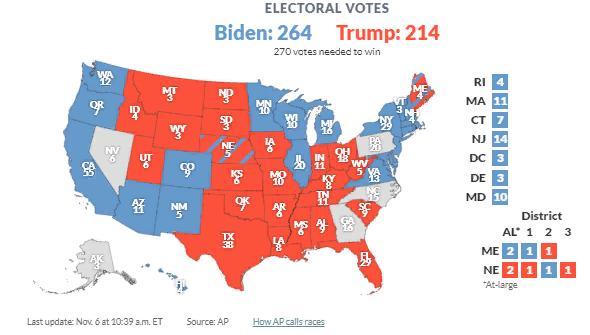 Карта выборов в США