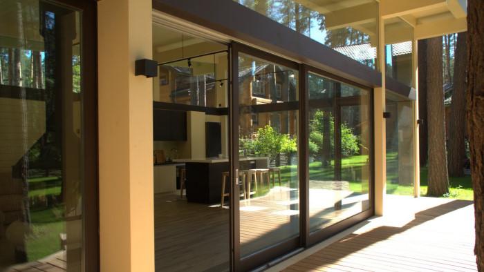 Раздвижные двери HS-Portal для фахверковых домов