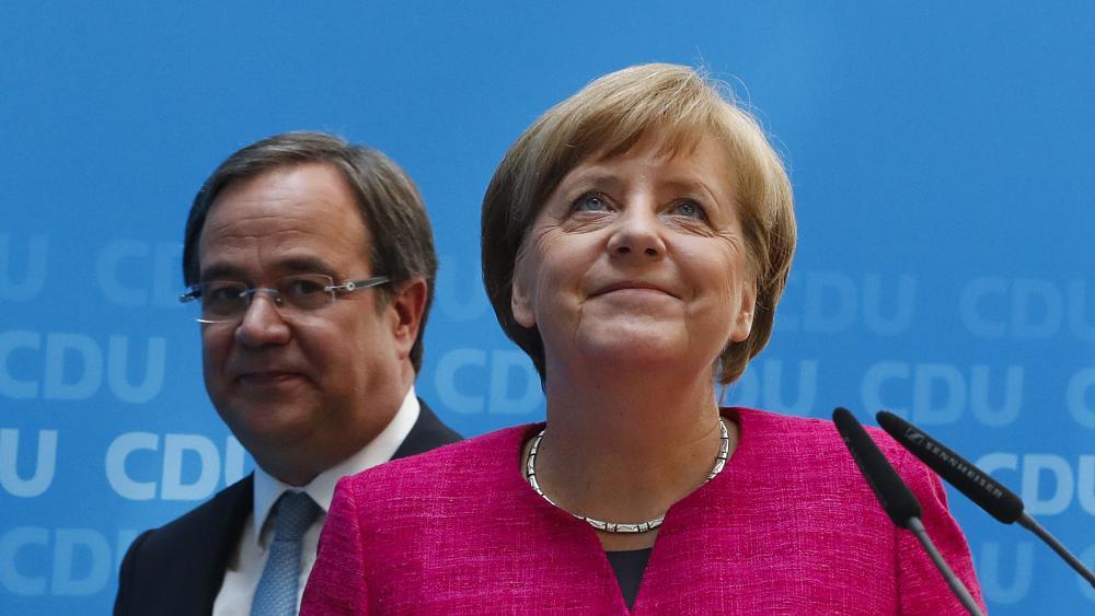 Армин Лашет и Ангела Меркель