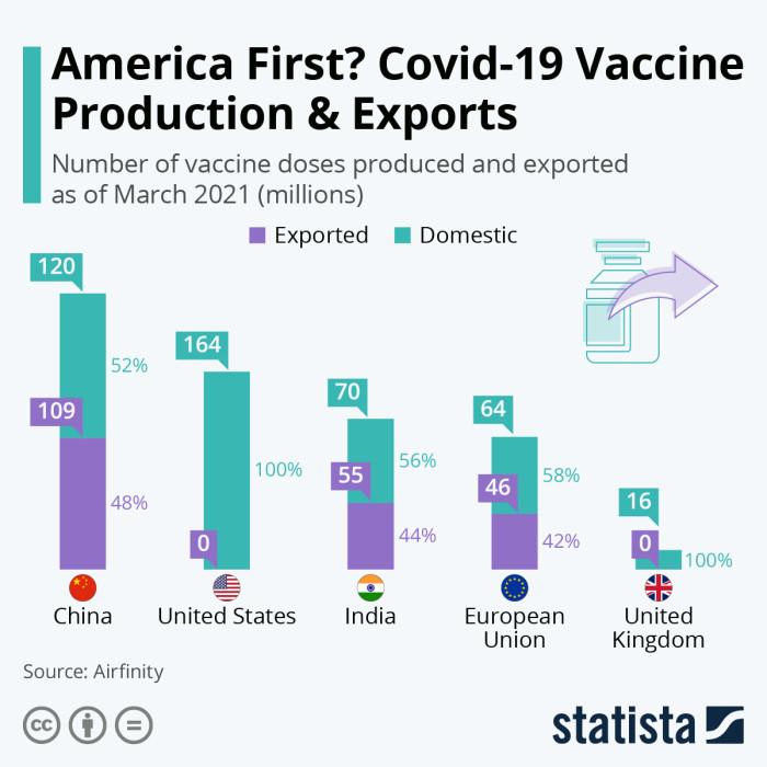 Производство и экспорт вакцин от коронавируса.