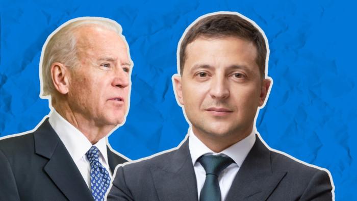 Джо Байден и Владимир Зеленский