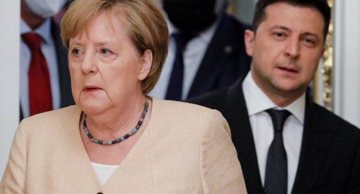 Канцлер Германии Ангела Меркель в Киеве