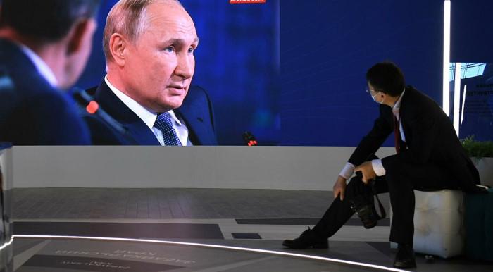 Трансляция выступления Владимира Путина на ВЭФ-2021