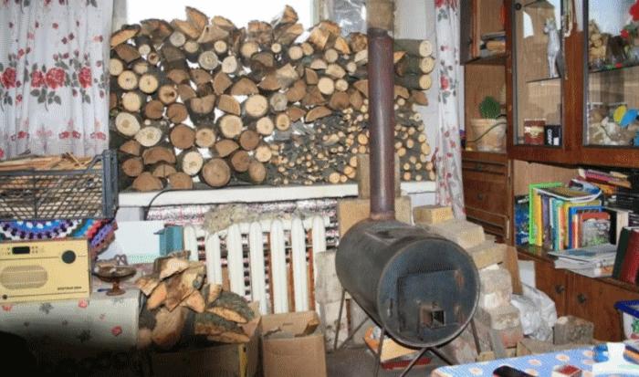 Типичная киевская квартира в отопительный сезон