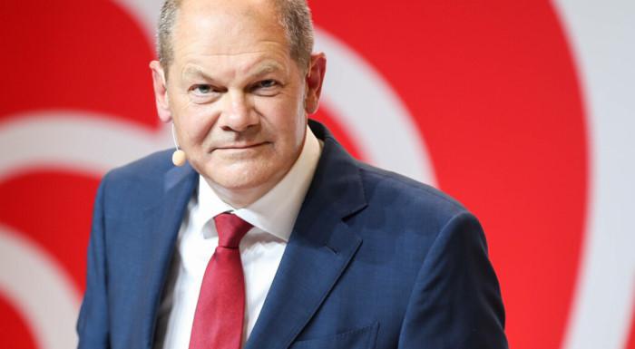 Олаф Шольц, председатель СДПГ, победившей на выборах в ФРГ