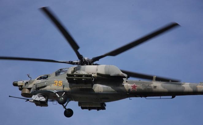 Российские вертолеты начали учения на Северо-Западе