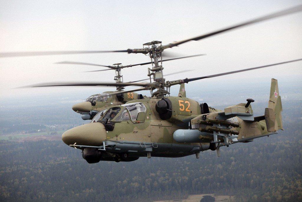 Российские вертолеты начали боевые учения на Северо-Завпаде