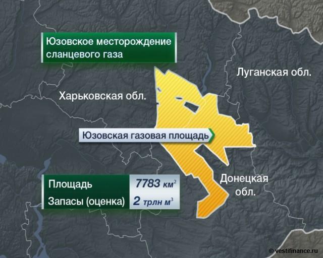 Причина обстановки в Славянске - месторождение сланцевого газа