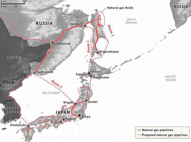 Япония хочет построить газопровод из России