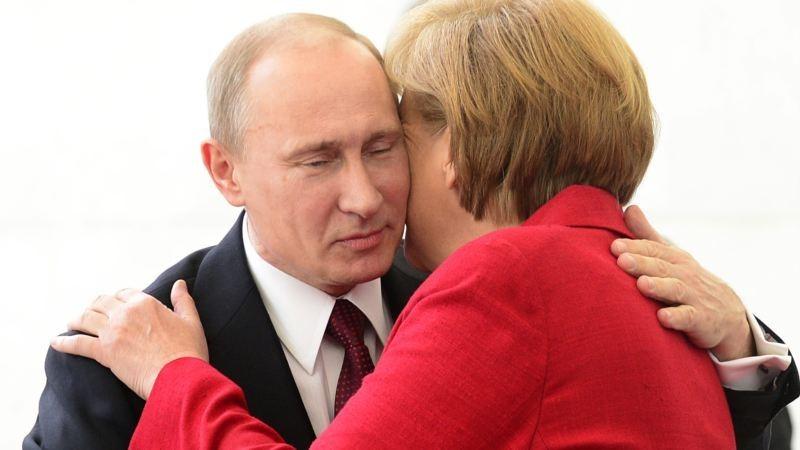 Владимир Путин и Ангела Меркель в Бразилии