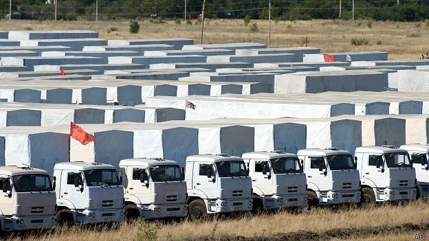 Колонна с российской гуманитарной помощью Украине начинает движение