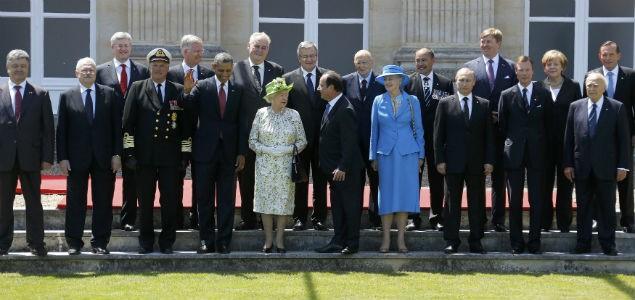 Современные политические лидеры на 70-й годовщине высадки войск союзников в Нормандии (2014-й год). Это «открытое» мировое правительство. А как выглядит тайное?