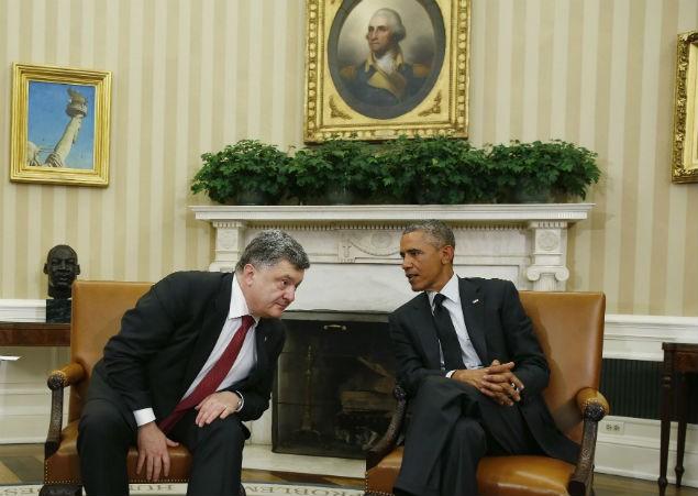 Встреча президентов Украины и США в Овальном кабинете Белого дома, 18 сентября 2014 года