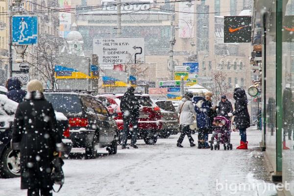 Как путинский снег захватил Киев