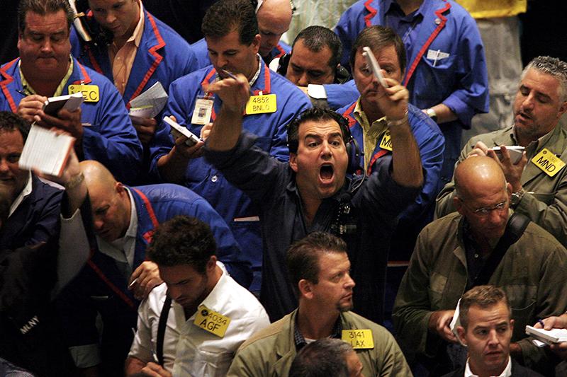 Трейдеры на товарной бирже Нью-Йорка, 20 сентября 2006 года