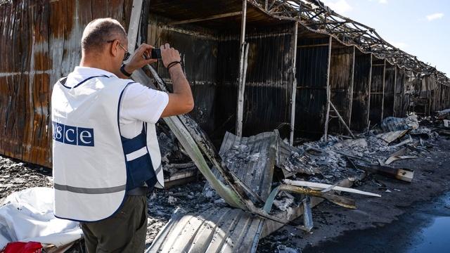 Взрыв со стороны Павлополя: на месте взрыва работала миссия ОБСЕ