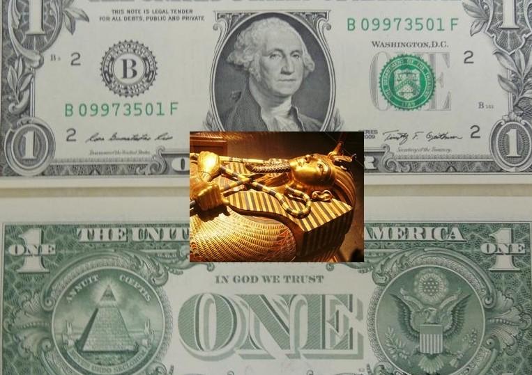Сломанная маска Тутанхамона как знак крушения нового мирового порядка