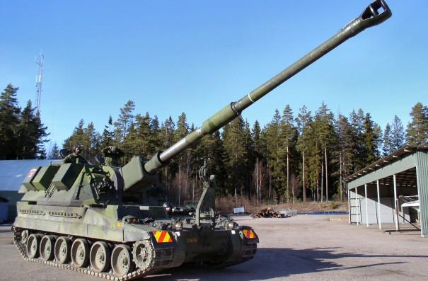 """САУ AS90 Braveheart, модификация с """"длинным стволом"""", в 52 калибра."""