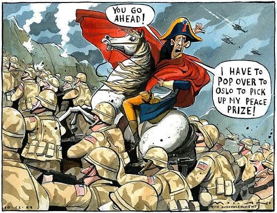 Карикатура на Обаму в мундире Наполеона