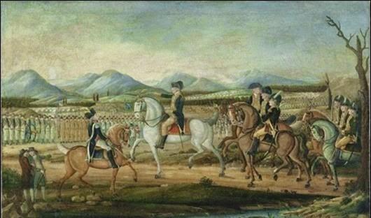 Джордж Вашингтон ведёт войска в восставшую Пенсильванию