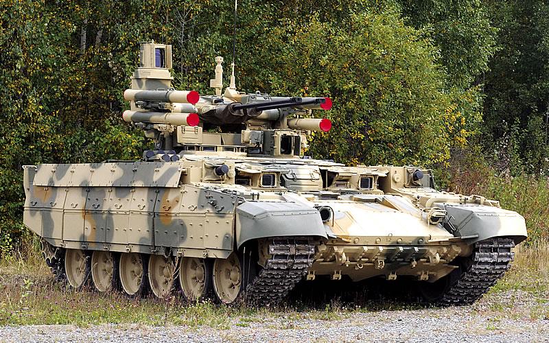 «Терминатор» сделан на базе танка Т-90А.