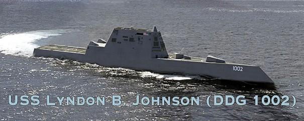 Первым боевым кораблем, оснащенным рельсотроном, вероятно, станет эсминец Lyndon B. Johnson.