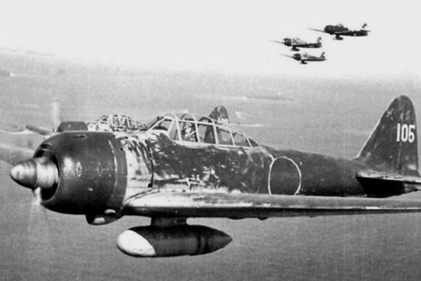 Японский истребитель Mitsubishi A6M Zero, который использовался для атак камикадзе.