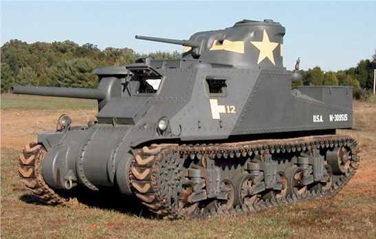 Средний танк M3 Grant с пушкой М2