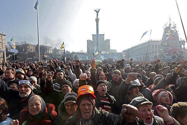 Государственный переворот в Киеве. Фото: Максим Шипенков