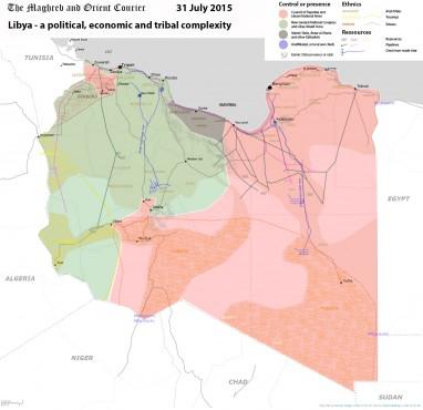"""Карта """"плюрализма"""" в Ливии"""