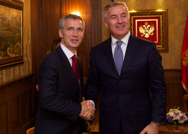 NATO Secretary General Jens Stoltenberg meets with the Prime Minister of Montenegro, Milo Djukanovic
